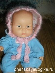 Кофточка и шапочка для новорожденной девочки