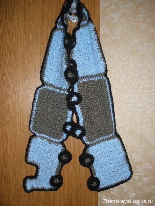 шарф крючком для детей