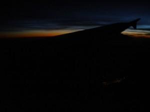из самолёта