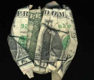 оригами из долларов