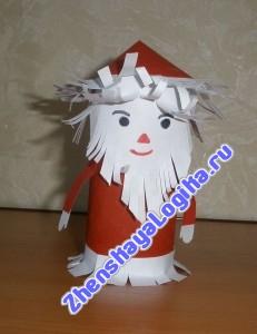 Дед Мороз из рулона от туалетной бумаги и Чем отличается Дет.Мороз от Взрос.Мороса