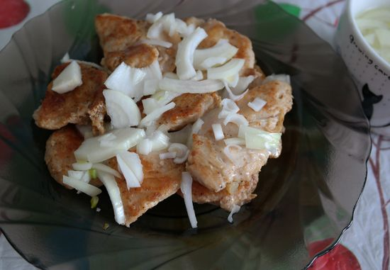 Куриный шашлык на сковородке
