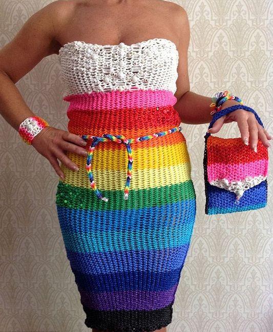 Одежда из резиночек-радужек