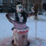 Как мы лепили снеговика Бабу Ягу (пособие для начинающих)