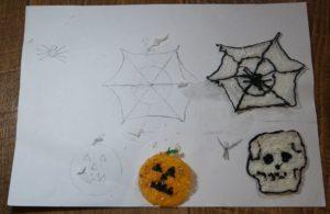 Поделки 3Д ручкой для Хэллоуина