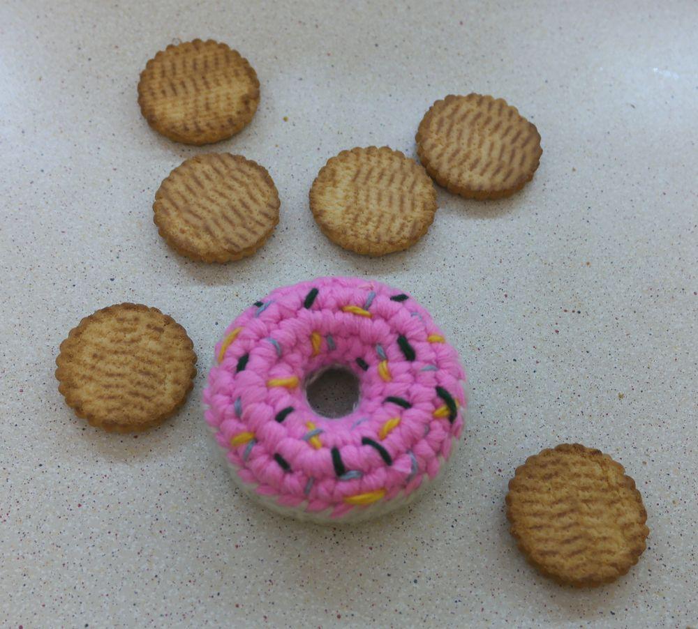 Как связать пончик крючком