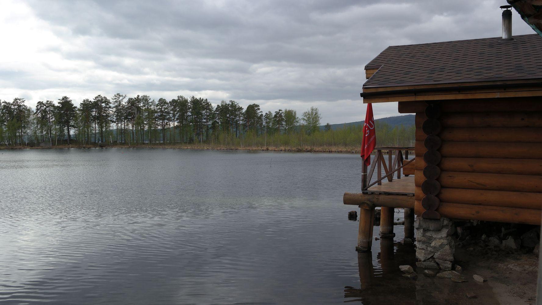 Холодный приём на озере Тургояк