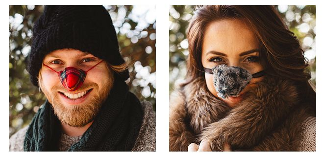 Вязаный наносник или Чем согреть нос в холодную погоду