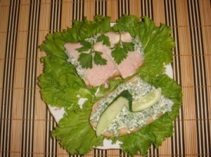 Конкурс бутербродов: Весенний бутерброд от Людмилы