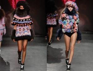 Необычная вязанная одежда для женщин