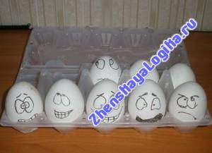 Пасхальные поделки из яиц